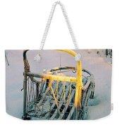 Frozen Dogsled Weekender Tote Bag