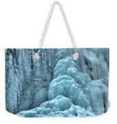 Frozen Falls Along The Icefields Parkway Weekender Tote Bag