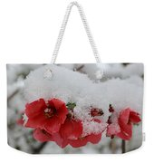 Frozen Flowers Weekender Tote Bag