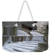 Frozen Fountain Weekender Tote Bag