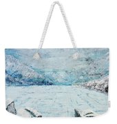 Frozen Lake Weekender Tote Bag