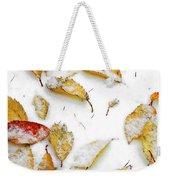Frozen Leaves Weekender Tote Bag