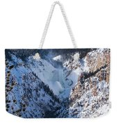 Frozen Lower Falls Weekender Tote Bag