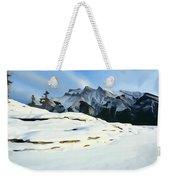 Frozen Mountain Lakeshore Weekender Tote Bag