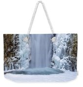 Frozen Multnomah Falls Closeup Weekender Tote Bag