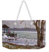 Frozen Niagara River Weekender Tote Bag