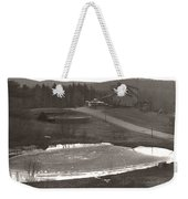 Frozen Pond Camp Ground Panorama Weekender Tote Bag