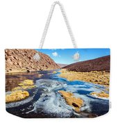 Frozen Stream In Chile Weekender Tote Bag