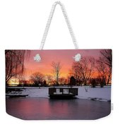 Frozen Sunrise Weekender Tote Bag