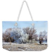 Frozen Trees By The Lake Weekender Tote Bag