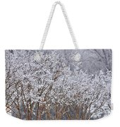 Frozen Trees During Winter Storm Weekender Tote Bag
