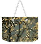 Frozen Twigs Of A Corkscrew Willow Weekender Tote Bag