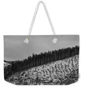 Frozen Valley 6 Bw Weekender Tote Bag