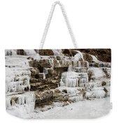 Frozen Waterfall Weekender Tote Bag