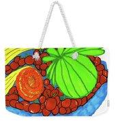 Fruit In A Blue Bowl Weekender Tote Bag