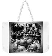 Fruit Seller Blue City Street India Rajasthan Bw 1b Weekender Tote Bag