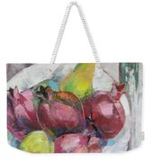 Fruits In Vintage Weekender Tote Bag