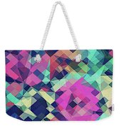 Fruity Rose   Fancy Colorful Abstraction Pattern Design  Green Pink Blue  Weekender Tote Bag