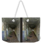 Ft. Howard Pk- Tunnel Effect - 3d Stereo X-view Weekender Tote Bag