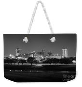 Ft. Worth Texas Skyline Dusk Black And White Weekender Tote Bag