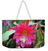 Fuchia Cactus Flower Weekender Tote Bag