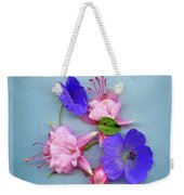 Fuchsia And Cranesbill Weekender Tote Bag