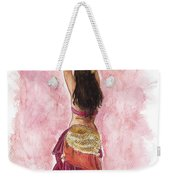 Fuchsia Weekender Tote Bag by Brandy Woods