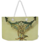 Fuchsia Necklace Alphonse Maria Mucha Weekender Tote Bag
