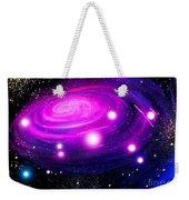 Fuchsia Pink Galaxy, Bright Stars Weekender Tote Bag