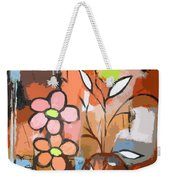 Fuddled Floral Weekender Tote Bag
