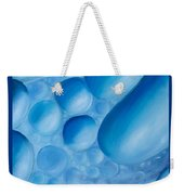 Fulfilment, Blue Abstract Art Weekender Tote Bag