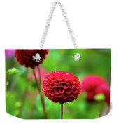 Full Bloom Reds Weekender Tote Bag