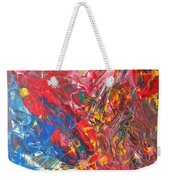 Full Color Particles Weekender Tote Bag