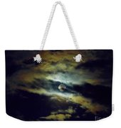 Full Moon And Clouds Weekender Tote Bag