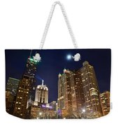 Full Moon Over Chi Town Weekender Tote Bag