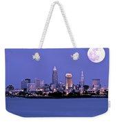 Full Moon Over Cleveland Weekender Tote Bag