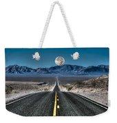Full Moon Over Death Valley Weekender Tote Bag