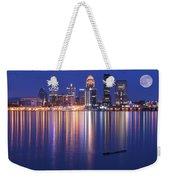 Full Moon Over Louisville Weekender Tote Bag