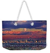 Full Moon Over New York City In October Weekender Tote Bag
