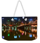 Full Moon Over Pittsburgh Weekender Tote Bag