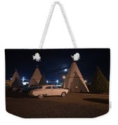 Full Moon Over Wigwam Motel Weekender Tote Bag