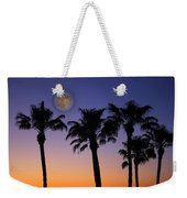 Full Moon Palm Tree Sunset Weekender Tote Bag