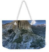Full Moon Rising Behind Half Dome Weekender Tote Bag