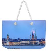 Full Moon Rising Over Gamla Stan Churches In Stockholm Weekender Tote Bag