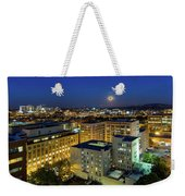 Full Moon Rising Over Portland Downtown Weekender Tote Bag