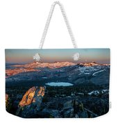 Full Moon Set Over Desolation Wilderness Weekender Tote Bag