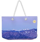 Full Moon Setting Over The Colorado Rocky Mountains Weekender Tote Bag