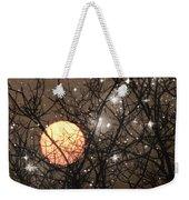 Full Moon Starry Night Weekender Tote Bag