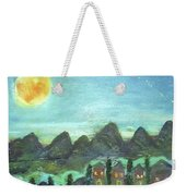 Full Moon Village Weekender Tote Bag