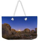 Full Moonrise At City Of Rocks State Weekender Tote Bag